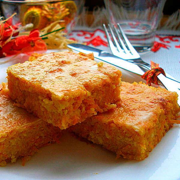 Полезный морковно-апельсиновый пирог без муки