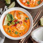крем суп с креветками