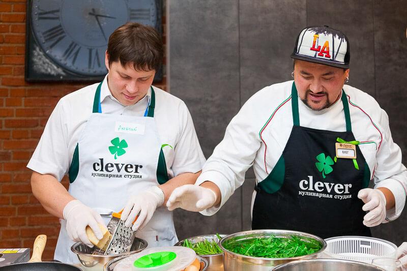 корпоратив в кулинарной студии clever