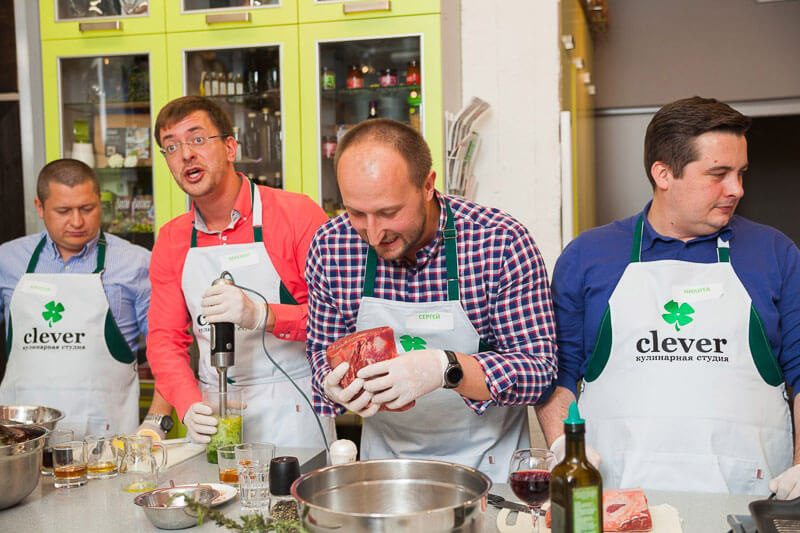 мастер класс на день рождения в Кулинарной Студии Clever