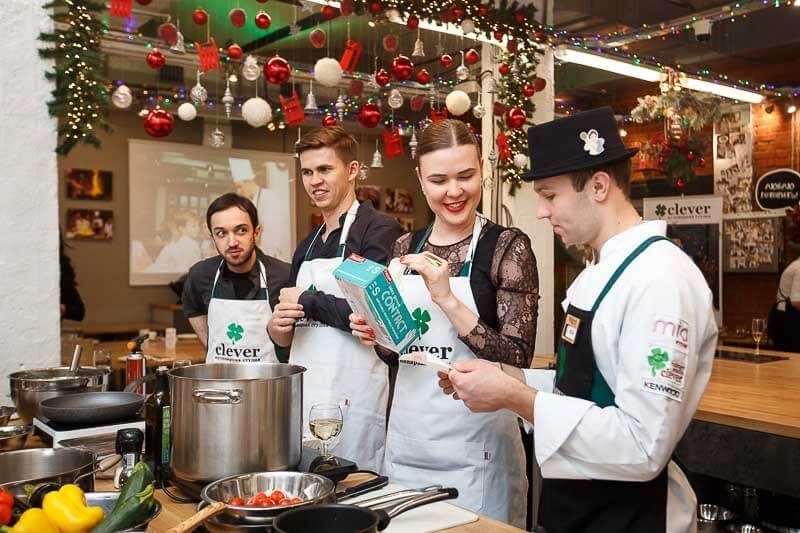 новогодний корпоратив кулинарная студия Clever