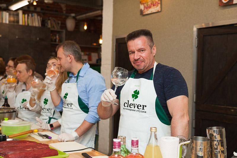Андрей Пасютин в Кулинарной студии Clever