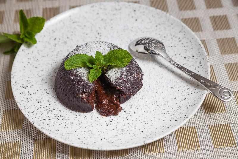 tortino dal cuore di cioccolato – шоколадный фондан