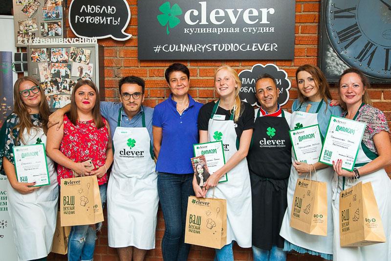 кулинарный мастер-класс в студии Clever шеф-повар Маурицио Филистад