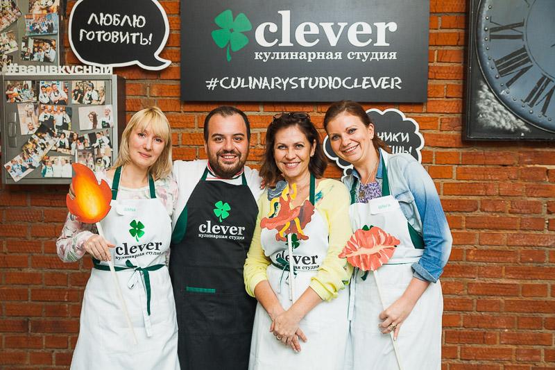 кулинарный мастер-класс в студии Clever шеф-повар Марко Праццоли