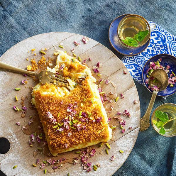 Кнафи – традиционное домашнее пирожное, запеченное с сыром