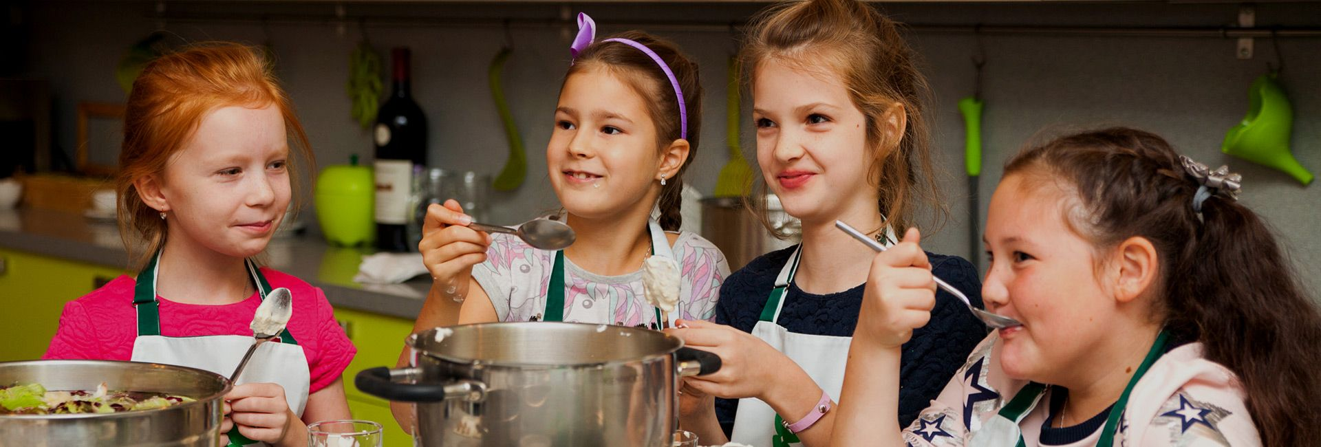 детский ден рождения в кулинарной студии clever