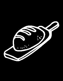 иллюстрация хлеб на доске