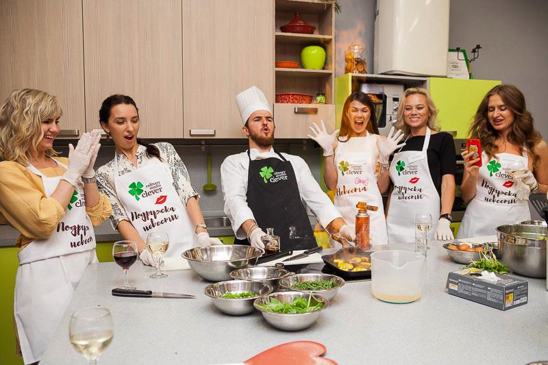 организовать девичник в формате кулинарный мастер-класс от студии Clever